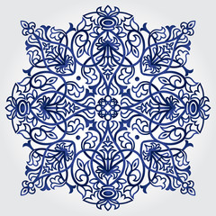 Abstract vector ornament in Victorian style. Lace pattern.