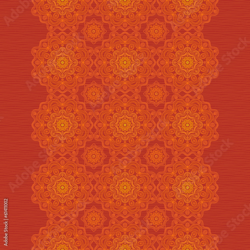 Ethnic decorative border with lacy ornament.