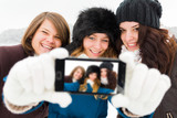 Girls Taking a Selfie poster