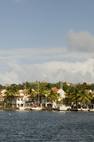 Rodney Bay yachts sailboats St. Lucia Island in Caribbean Sea wi