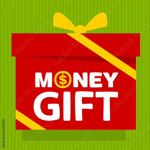 gift box with text  money gift