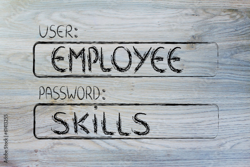 user Employee, password Skills