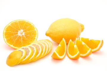 Fruit combination orange and lemon