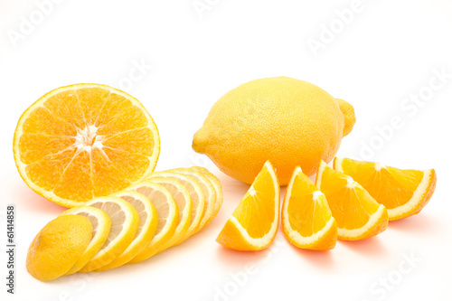Fruit combination orange and lemon