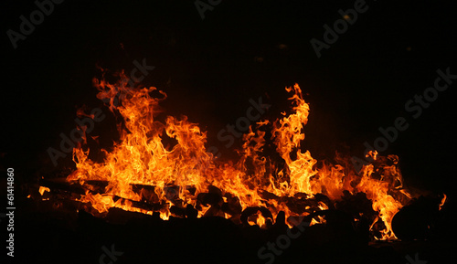 canvas print picture fire flame