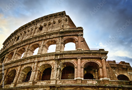 Ancient Colosseum in Rome