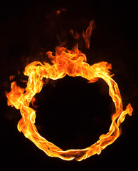 fire flame circle