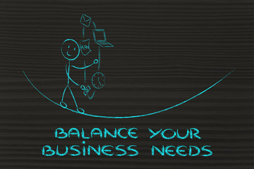 balancing your business needs: juggling with pc, document, email