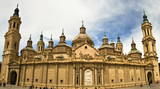 towers of Basilica at Zaragoza, Spain