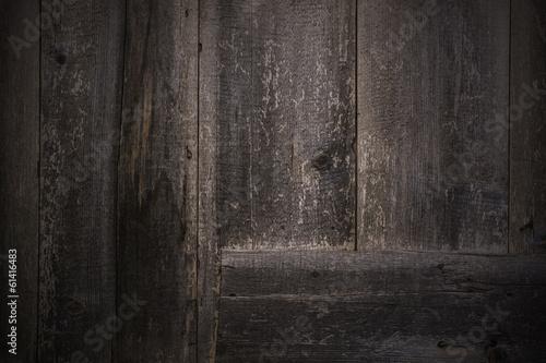 Poster Wooden Dark Wall