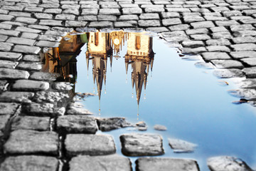 Puddle on the Old Town Square
