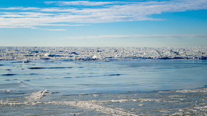 Ice on the Baltic Sea coast