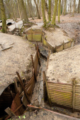 WW1 Trenches, Sanctuary Wood, Ypres, Belgium