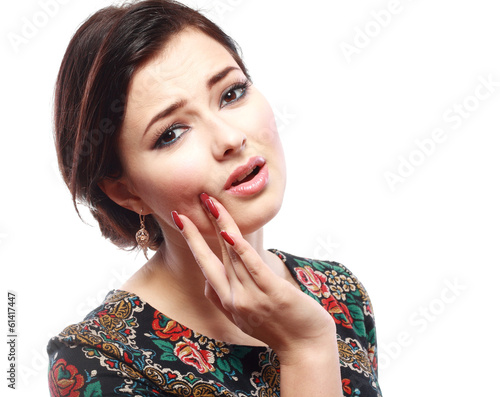 woman having toothache