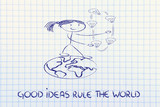 ideas can change the world: concept of innovation