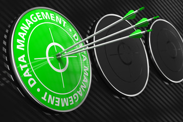 Data Management Concept on Green Target.