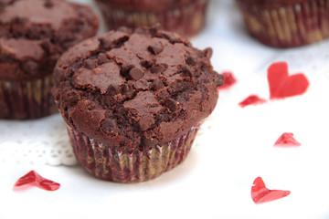 Muffin al cioccolato innamorato