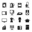 Silhouette home equipment icons