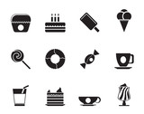 Silhouette Sweet food and confectionery icons