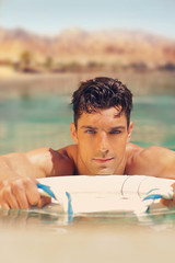 Hot guy in pool