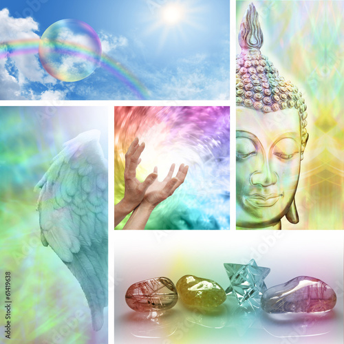 Rainbow Healing Collage
