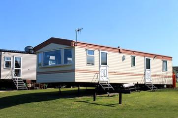 Caravans in trailer park