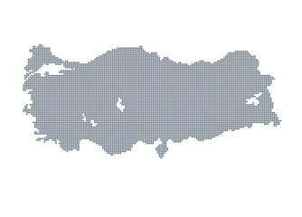 Koyu noktalı Türkiye haritası