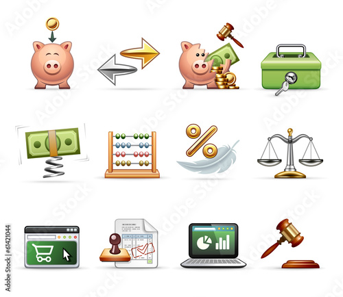Finance, Business and Savings - Harmony Icon Set 03