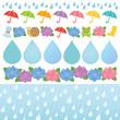 雨の日 サービス 広告 イラスト
