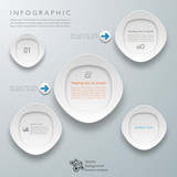 Infographics Vector Background White Frame