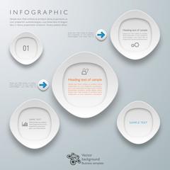 Infographics Vector Background White Frame