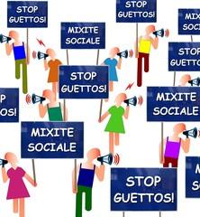 Manif pour la mixité sociale