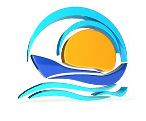 Boat 3D logo