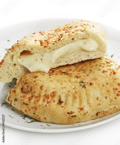 Fotobehang Brood Cheese Calzone