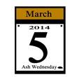 ash wednesday calendar icon