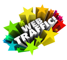 Web Traffic Stars Background Increase Online Views Search Reputa