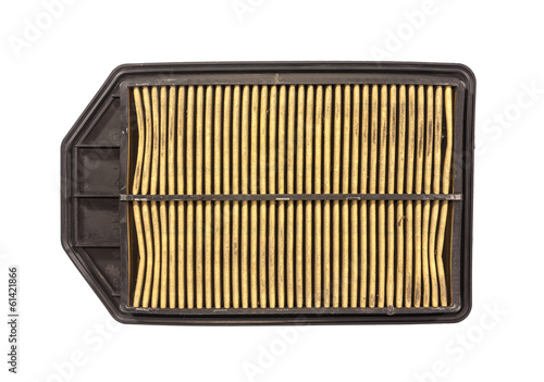 dirty car air filter after used