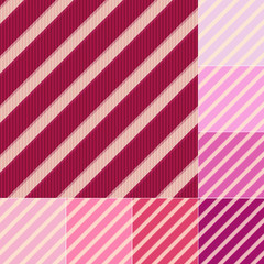 seamless red pink diagonal stripes pattern