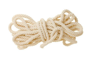 Bright rope isolated on white