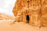 Nabataeans ruins at Little Petra in Siq al-Barid, Jordan.