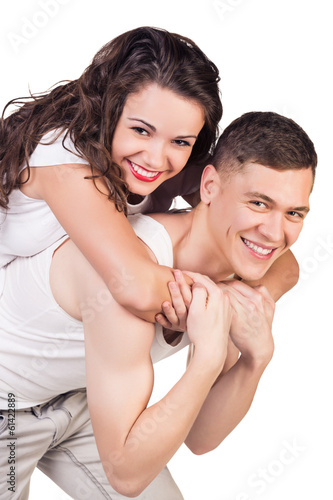 Young beautiful smiling couple