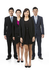 Group of Asian business people.