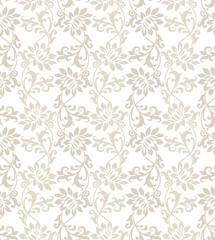 Fancy floral seamless vector wallpaper