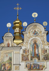 Detail of cathedral of Caves Monastery in Kiev