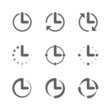 Clock, time icons
