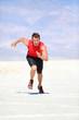 Runner - man running sprinting outdoor