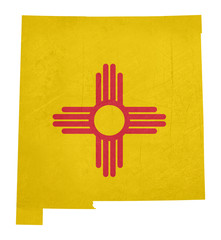 Grunge state of New Mexico flag map