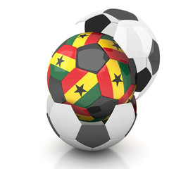 Ghana soccer ball isolated white background