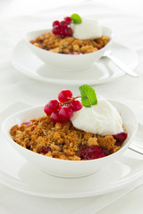 Strawberry crumble.