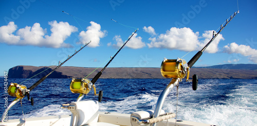 Keuken foto achterwand Vissen Deep sea fishing in Hawaii